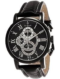 Titan Classique Chronograph Black Dial Men's Watch -NK9234NL01