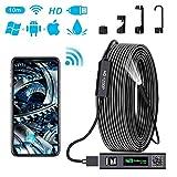 Endoscope WiFi 1200P HD Camera Endoscope IP68 Etanche Caméra d'inspection...