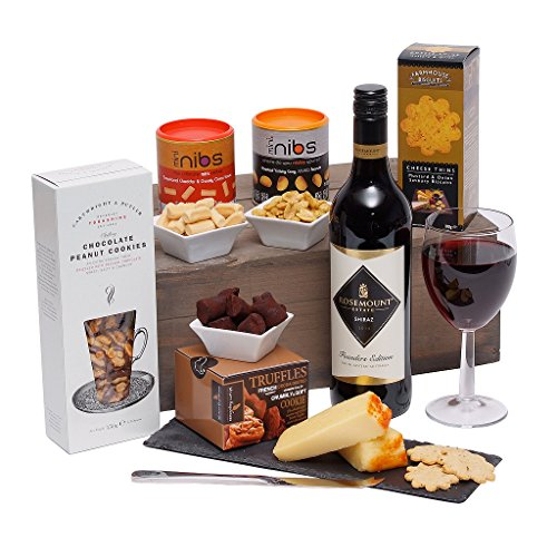 The Gourmet Selection Food Hamper - Cheese & Wine Gift Hamper - Suitable For Him or For Her
