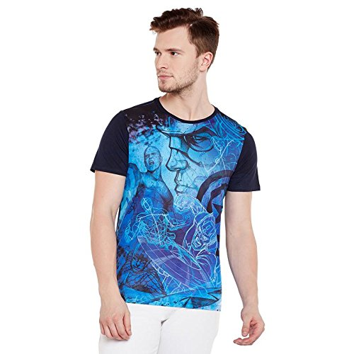 Marvel Avengers Blue Cotton Polyester T-shirt For Men MMA0053