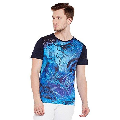 Marvel Avengers Blue Cotton Polyester T-shirt For Men MMA0053