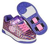 Heelys Unisex-Kinder X2 Fitnessschuhe, Mehrfarbig (Purple/Rainbow / Smile 000), 33 EU