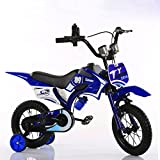 Kinder Motorrad Fahrrad Junge Baby Wagen Kinder Mountainbike 12 Zoll ( Farbe : Blau )