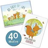 My First Friends Baby Karten - Exklusive Babykarten für die einzigartigen Momente im 1. Lebensjahr - Baby Cards zum Festhalten von Meilensteinen Ihres Kindes - Perfekt geeignet als Geschenk zur Geburt