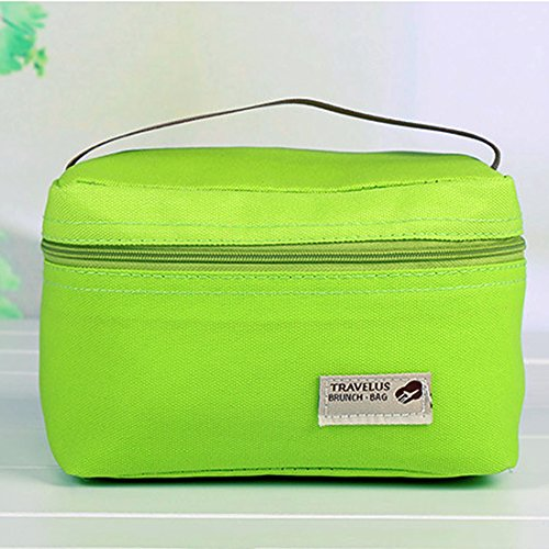 Borse per picnic, Foxom termica portatile impermeabile per il pranzo picnic Carry Tote Storage Bag 18*12*11.5cm Apple Green - Borsa Di Opp