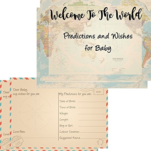 16Baby Prognosen & wishes Karten für Baby-Dusche Spiele Welcome to the World