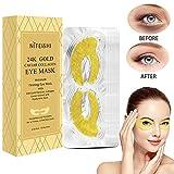 Maschera per la cura degli occhi, con collagene dorato, idratante, anti invecchiamento, trattamento per occhi gonfi, occhiaie, cerotti per occhiaie, antirughe, maschera idratante per occhi