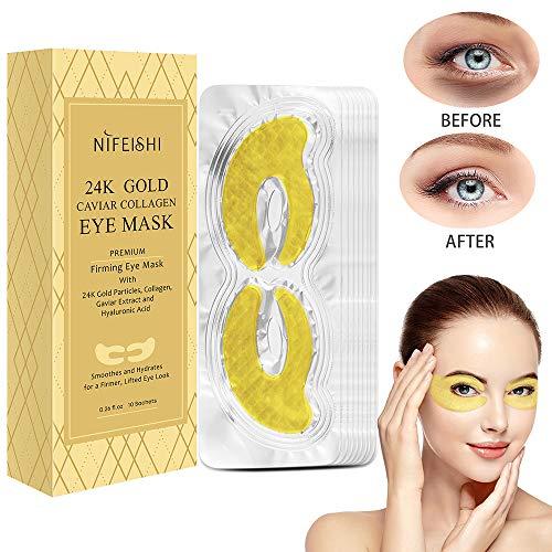 Augenpads Augen Patches Eye Care Mask Feuchtigkeitsspendende Anti Aging Pads Augenbehandlung Maske für geschwollene Augen Behandlung Dark Circle Anti-Falten-Augenpflaster Eye Gel Pads Eye Mask