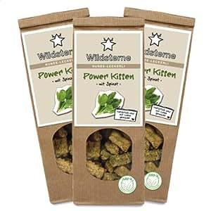 Wildsterne Power Kissen mit Spinat Hundeleckerli, 3er Pack (3 x 100 g)