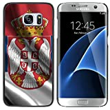 Graphic4You Serbie Drapeau Serbe Coque Cache Étui Housse de Protection pour Samsung Galaxy S7 Edge