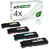 4 Toner kompatibel für Dell C2660DN, C2665DNF , C2600 Series - 593BBBM - Schwarz 3.000 Seiten, Color je 4.000 Seiten
