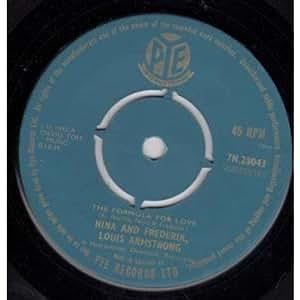 "Formula For Love 7 Inch (7"" Vinyl 45) UK Pye 1959"