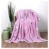 Decken Flannel weiche flaumige gemütliche warme rosa Blumenmuster Schlafcouch WYQLZ (größe : 180 * 200cm)