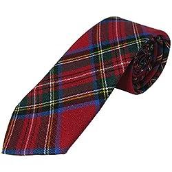 Corbata estilo tartán para hombre - 100% lana - Royal Stewart