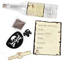 Flaschenpost Als Einladungskarte Piraten Party 6 Stück Palandi®