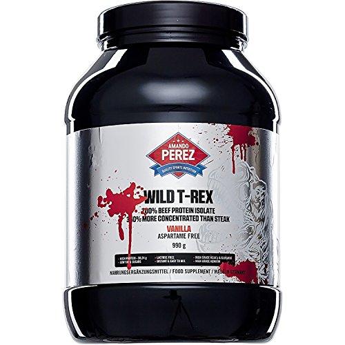 Sauvage T-REX - 100% Beef Protein - 350% plus concentrée que steak - Le géant ultime parmi les meilleures protéines Hardcore - vanille