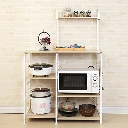 Soges Acero inoxidable Estante de cocina Estante de horno microondas, Multi-función Utensilios de cocina Estantes de almacenamiento