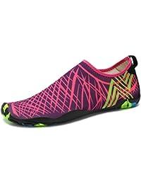 LeKuni Unisexe plongée Chaussures Respirants Séchage Rapide Semelles Colorées pour nager tous les Sports plage et d'eau Pour Femmes Hommes Enfants