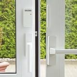 easymaxx 02481 Security Alarmanlage für Türen und Fenster Magnetsensor-Technik, 110db, kein Bohren nötig, kabellos, inklusive Fernbedienung, Weiß