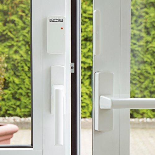 EASYmaxx Security Alarmanlage für Türen & Fenster mit Fernbedienung, weiß