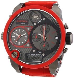 Reloj Diesel DZ7279 - digital de cuarzo para hombre, correa de plástico color rojo (cronómetro, agujas luminiscentes) de Diesel