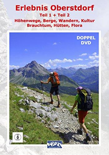 """Preisvergleich Produktbild Erlebnis Oberstdorf """"Teil 1 Drei der schönsten Höhenwege in den Allgäuer Alpen Teil 2 Wandern,  Berge,  Kultur,  Brauchtum Hütten,  Flora"""" (2er DVD Box)"""