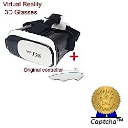 Lenovo Vibe K5 Note Compatible Ceritfied VR BOX 2.0 Virtual Reality Glasses, 2016 Hottest 3D VR Headsets for 4.7~6 Inch Screen Phones iphone 4S, iphone 5s, IPhone 6 / 6 S , Samsung LG Sony HTC, Nexus 6Oneplus Moto etc(Assorted Color) with FREE GIFT