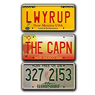 Celebrity Machines Breaking Bad - LWYRUP + The Cap + Volvo - Nummernschilder aus Metall