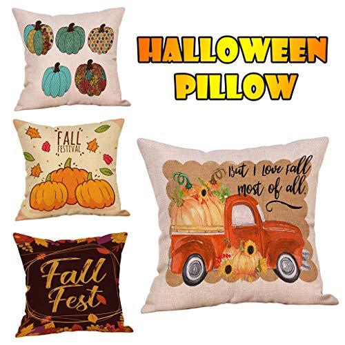 Kostüm Bett Unter Monster Dem - Junjie Halloween Home Auto Bett Sofa Dekorative Brief Kissenbezug Pillow Case Cushion Fledermäuse Plus Cartoon Kinderavatare