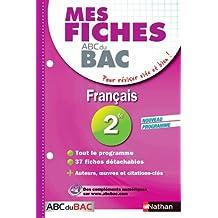 Mes fiches ABC du BAC Français 2de