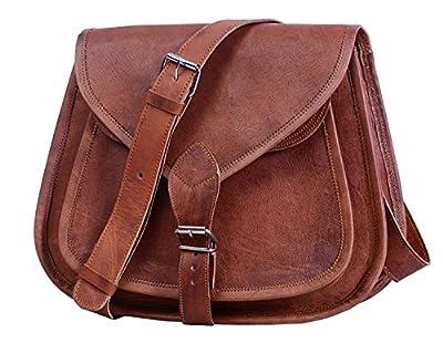 FAIRKRAFT Cuir sacoche cuir petite besace cabas en cuir vintage sac en cuir véritable naturel Sac bandoulière iPad mini Tablettes rétro sac mixte adulte marron