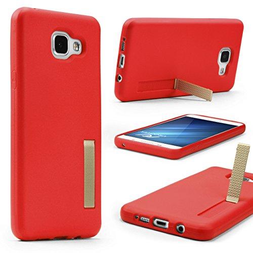 UrCover Custodia Clip Cavalletto Compatibile con Samsung Galaxy A5 2016 Cover Morbida e Leggera Silicone TPU in Rosso Back-Case Flessibile Protettiva
