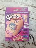 Glitza Transfersticker Kleines Set Blumen & Schmetterlinge, lassen sich auf Glas/Plastik/Metall/Textil/Haut auftragen, sind dehnba