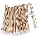 Homyl Bulk Lot Of 200 Pieces Wooden Handle Cotton Swabs Single Tip Cosmetic Makeup Applicator Tool 15cm
