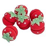 Homyl 6pcs Süße Erdbeer Haar Lockenwickler Hair Roller Set, geeignet für alle Haarstyling und Haartype