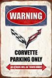 Warning Corvette Parking only park schild tin sign schild aus blech garage