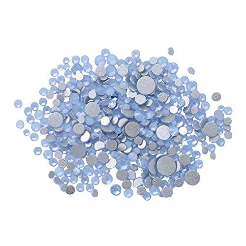 Lurrose 4 g Nail Art Strass Kit DIY Nagelnieten Kristallglas Perlen Edelsteine für Nagelkunst Dekorationen Supplies Make-up Kleidung Schuh (blau)