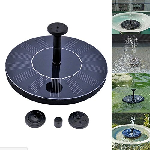 asdomo Solar Power Vogeltränke Brunnen Wasser schwimmende Pumpe Brunnen für Vogel Bad, Aquarium, Teich, Garten Dekoration