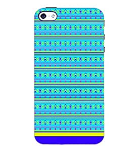 PrintDhaba Tribal Pattern D-1722 Back Case Cover for APPLE IPHONE 4S (Multi-Coloured)