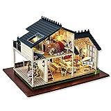 Natale regalo di compleanno bambola casa miniatura fai da te Dollhouse con mobili in legno casa giocattoli per bambini vacanza matrimonio ridurre l'ansia aiutare autismo migliorare manuali destrezza cooperazione creatività capacità