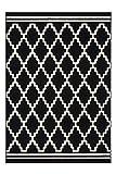 One Couture Rauten Muster Teppich Modern Schwarz Elfenbein 3D Effekt Teppiche, Größe:160cm x 230cm