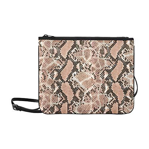 WYYWCY Unterschiedliches Schlangenhaut-Muster kundenspezifische hochwertige Nylon-dünne Clutch-Tasche Umhängetasche -