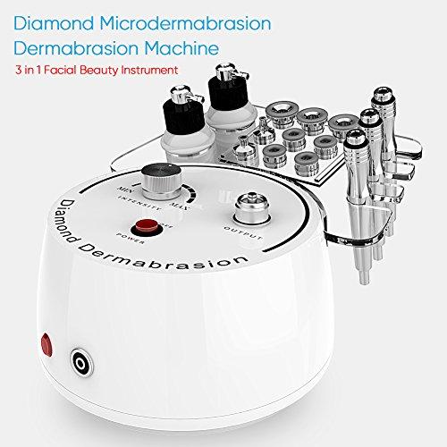 Cocoarm 3 in 1 Diamant Microdermabrasion Dermabrasion Maschine Gesichtspflege Gerät Vakuumdruck Beauty Anti Aging Gesichtspflegegerät Gesichts Schönheit Instrument für den Heimgebrauch -