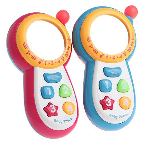 JAGENIE Baby Kids Learning Study Musical Sound Handy pädagogisches Handy Spielzeug PhoneChristmas Neujahrsgeschenk, 1 Stück, zufällige Lieferung Handy-sound