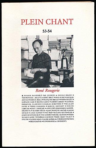 Plein Chant, N° 53-54 : René Rougerie