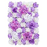 pittospwer Flor de Rosa Artificial Panel de Pared Fiesta de Boda Floral Lugar Telón de Fondo Decoración Purple