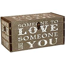 Borras Hnos - Baúl madera polipiel Love You (65x30x30)