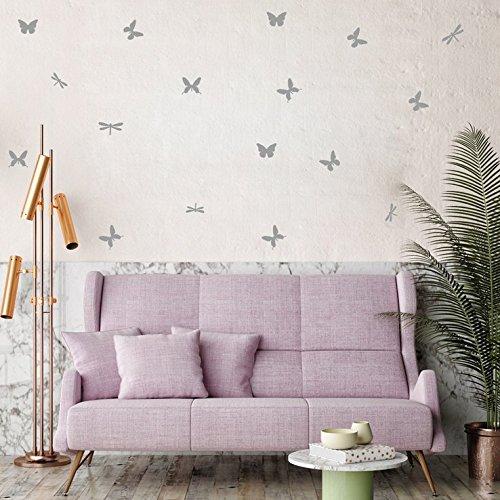 OIKAY Wandaufkleber diy wand einfach und kreativ fliegende schmetterlinge abnehmbare wandaufkleber hausgarten küche zubehör dekorative aufkleber wandbilder
