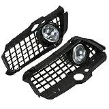 KKmoon Auto-Nebelscheinwerfer Licht Lampe Kühlergrill & Bright Nebel Helle Abdeckung Set mit Schalter und Kabelbaum