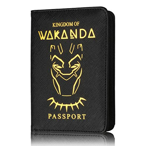 Reisepasshülle - Kingdom of Wakanda Premium Kunstleder Reisepasshülle mit RFID-Block für Kreditkarten, Ausweise und Reisedokumente Black Panther Wakanda, F (Mehrfarbig) - FA1121534_F-731-1508207821 - Filme Online Leihen